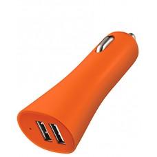 Carregador veicular c/ 2 saídas USB Multilaser laranja