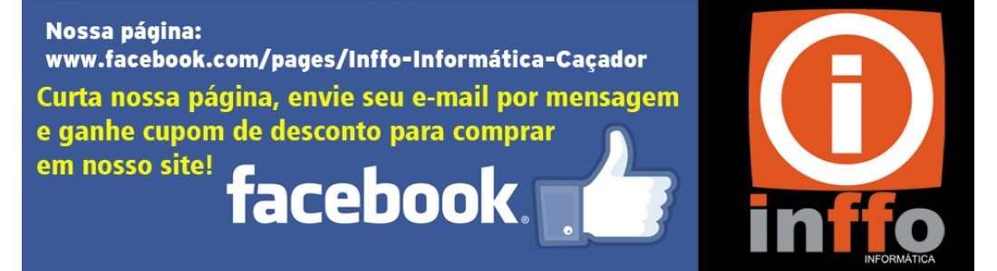 Curta no facebook