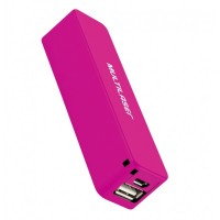 Carregador Portátil Power Bank Multilaser 2200mah rosa